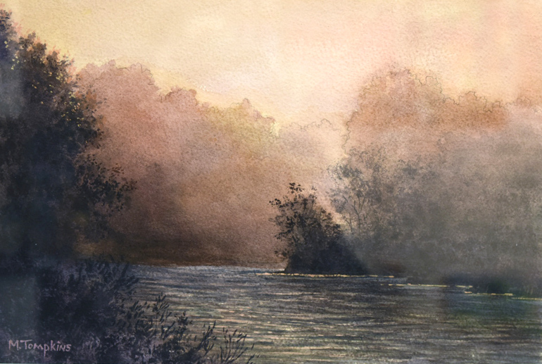 "Watercolor - ""Dusky Day"" by Mark Tompkins"