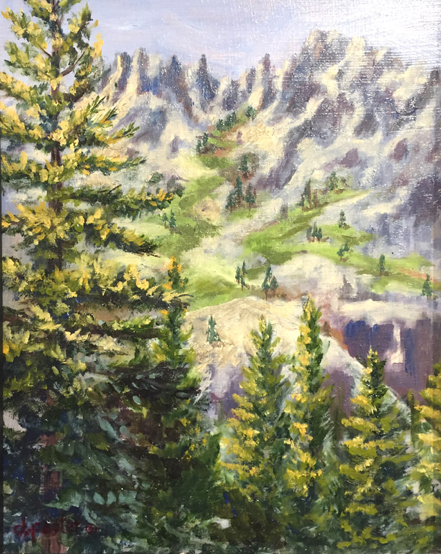 Oil, Honorable Mention - Looking West From Emerald Bay by Deborah Foster