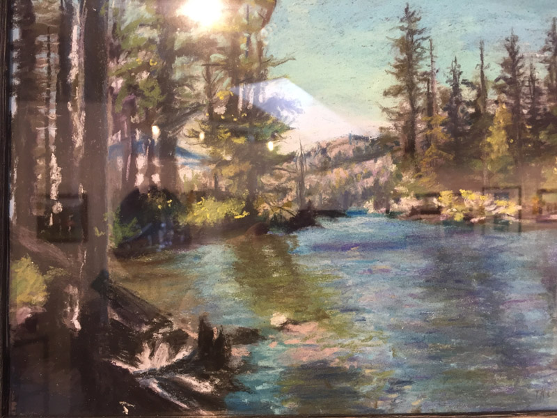 Pastel,1st Place  -Elko Lake by Linda Townsend